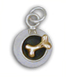 Bowl with Dog Bone Charm (sterling silver w/14K gold bone)