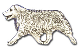 AUS12L- Large Australian Shepherd Running Design