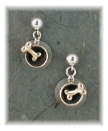 BWL11E- Bowl with Bone Dangle Earrings