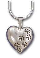 HRTPM10- MD Heart w/Paw Prints Charm/Pendant/Pin